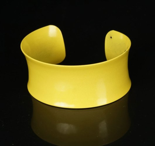 Margaret Jacobs Powder Coated Yellow Cuff Bracelet