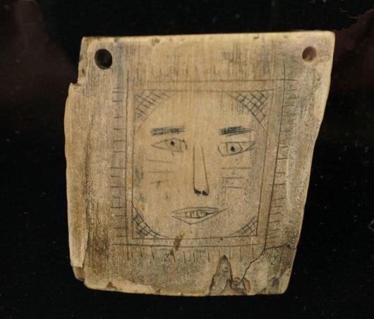 Vintage Eskimo Etched Ivory Face