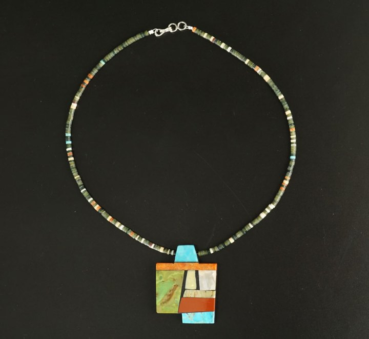 Mary Tafoya Geometric Shapes Necklace