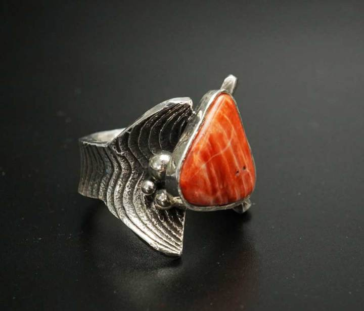 Cheryl Arviso Spiny Oyster Shell Ring