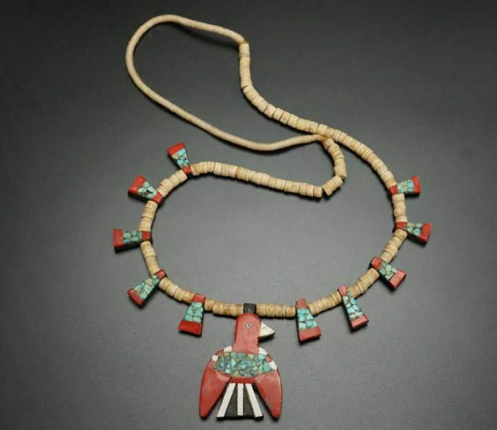 Depression Era Thunderbird Necklace 1