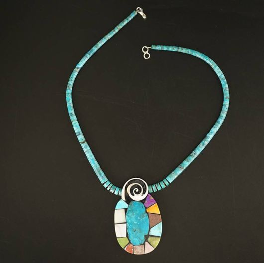 Mary Tafoya Mosaic Necklace 14