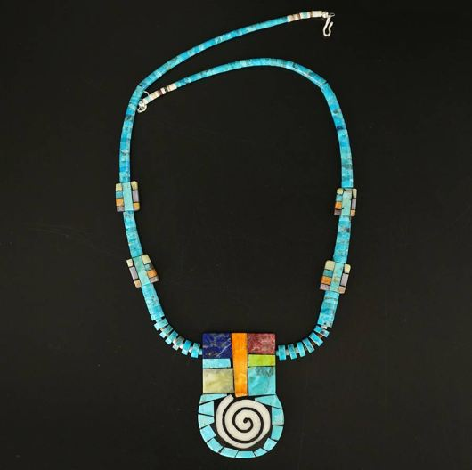 Mary Tafoya mosaic necklace 12