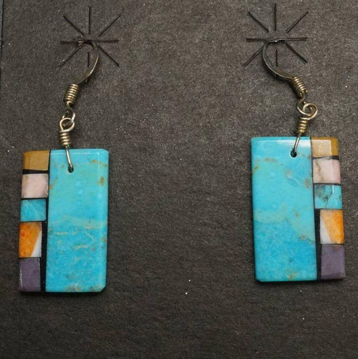 Mary Tafoya side mosaic earrings 45