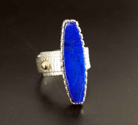 Native American Jewelry Althea Cajero Sterling Silver Lapis Lazuli Ring