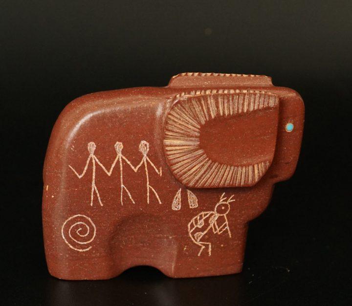 Ulysses Mahkee Zuni Fetishes Pipestone Ram