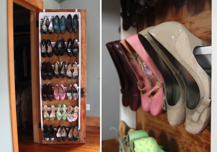 DIY Crown Molding Closet Shoe Organizer For Heels Blog