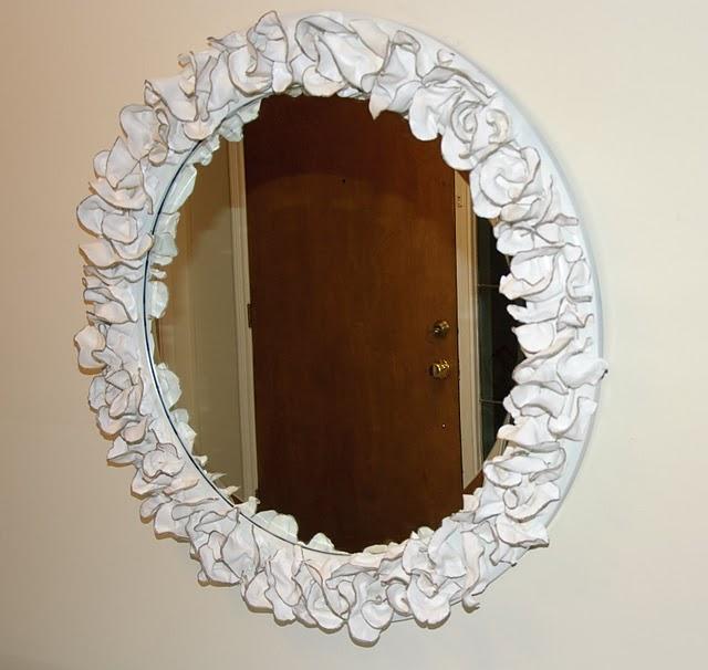 Clay Flower Mirror Home And Garden