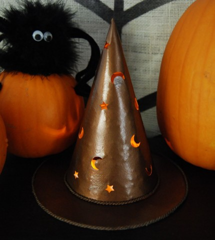 Faux Hammered Copper Witch Hat