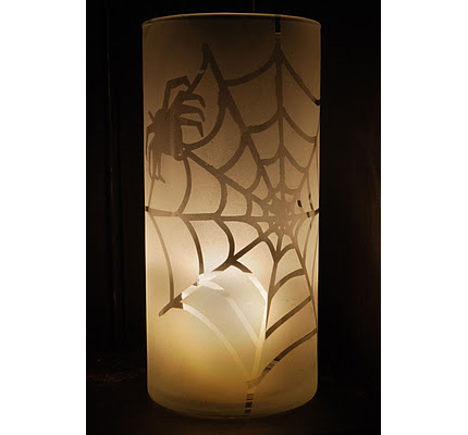 Frosted Halloween Luminaries