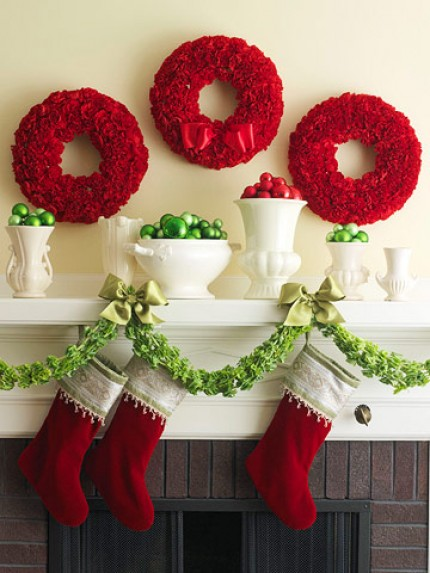 Christmas Carnation Wreaths