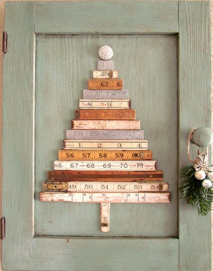 Folded Ruler Christmas Tree