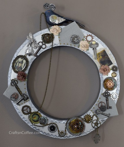 Steampunk Spring Wreath