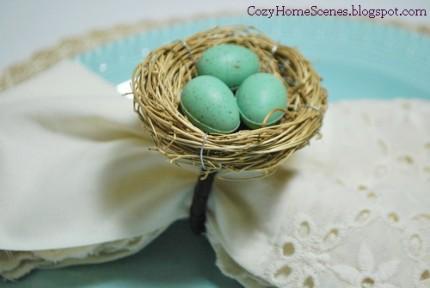 Bird Nest Napkin Rings