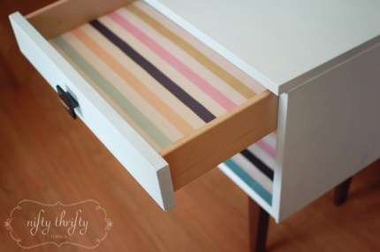 Homemade Chalk Paint Nightstand Makeover