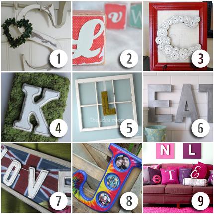 9 Letter & Monogram Craft Ideas