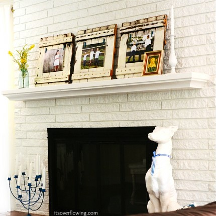 Picket Fence Inspired Mantel and Frames