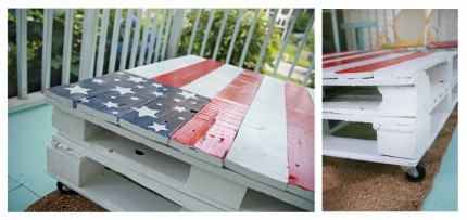 Patriotic Pallet Coffee Table