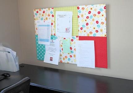 Fabric Covered Bulletin Board
