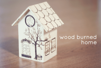 Wood Burning a Birdhouse