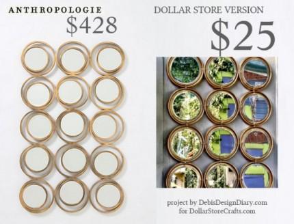 Anthropologie Inspired Circles Mirror