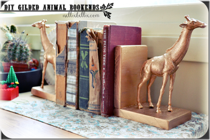 Gilded Animal Bookends