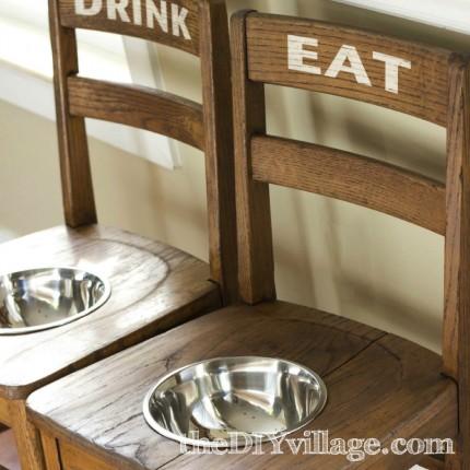 DIY Dog Bowl Chairs