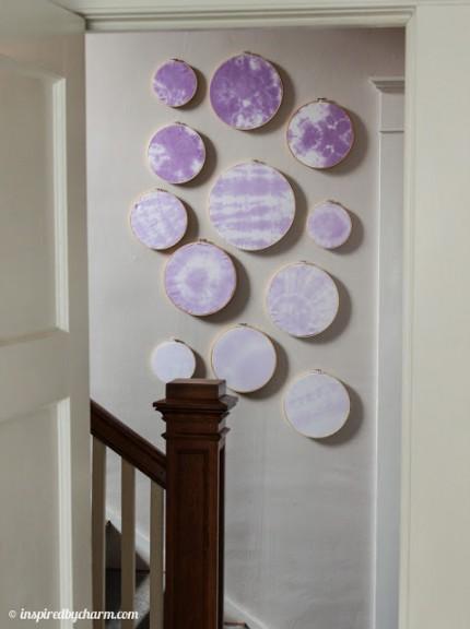 Tie-Dye Ombre Embroidery Hoop Art