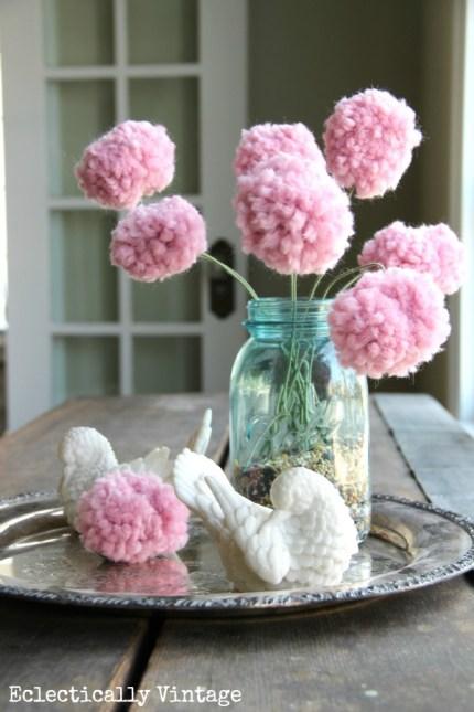 Pom Pom Flower Bouquet