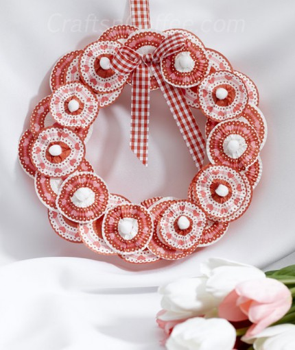 Cupcake Liner Valentine Wreath