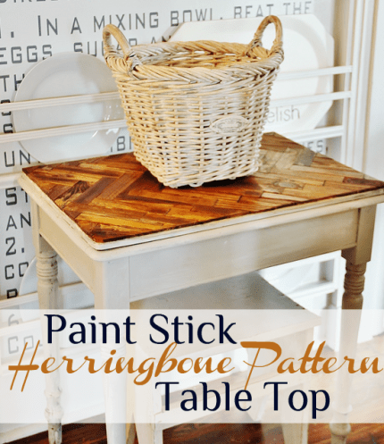 Herringbone Paint Stick Table