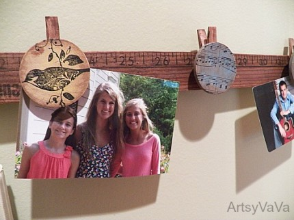 Yard Stick Photo Display