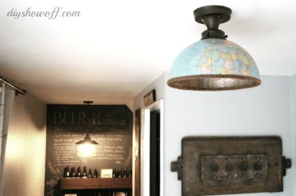 Globe Light Fixture @craftgossip