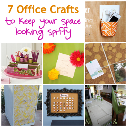7 Office Crafts to keep your space looking spiffy @craftgossip