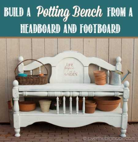 Headboard, Footboard To A Potting Bench