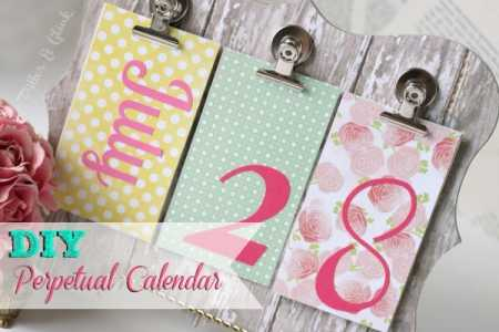Diy Perpetual Calendar  Home And Garden