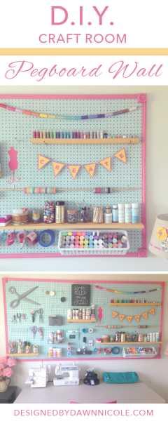 Diy pegboard wall organizer home and garden for Diy pegboard craft organizer