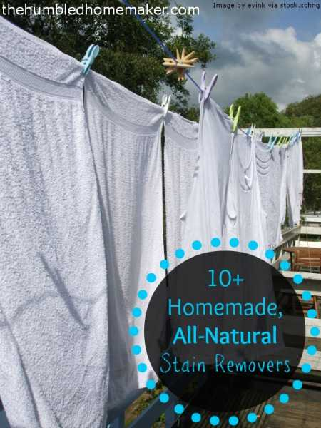 10+ Homemade, All-Natural Stain Removers