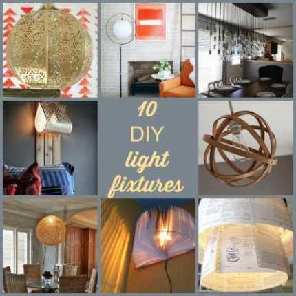 10 DIY light fixtures
