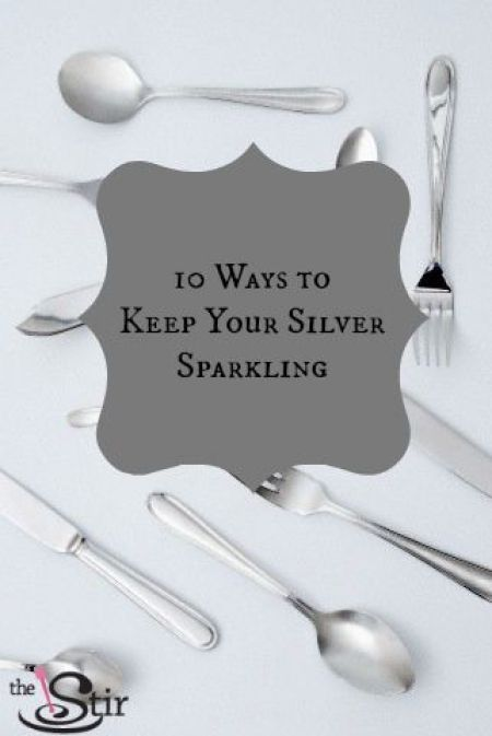 how to clean lots of silverware