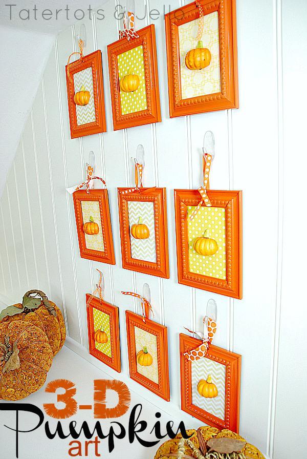 3-d-pumpkin-art-wall