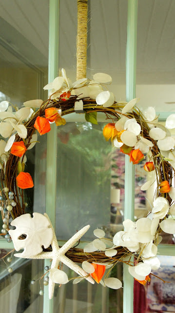 autumn beach wreath
