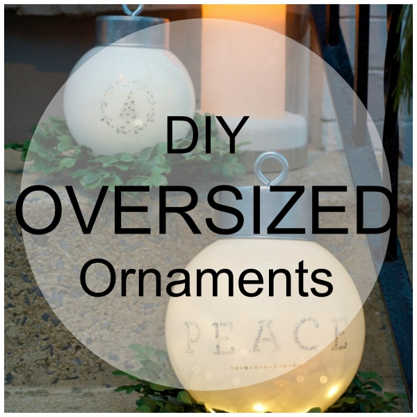 Oversized christmas decorations diy Large outdoor christmas decorations to make