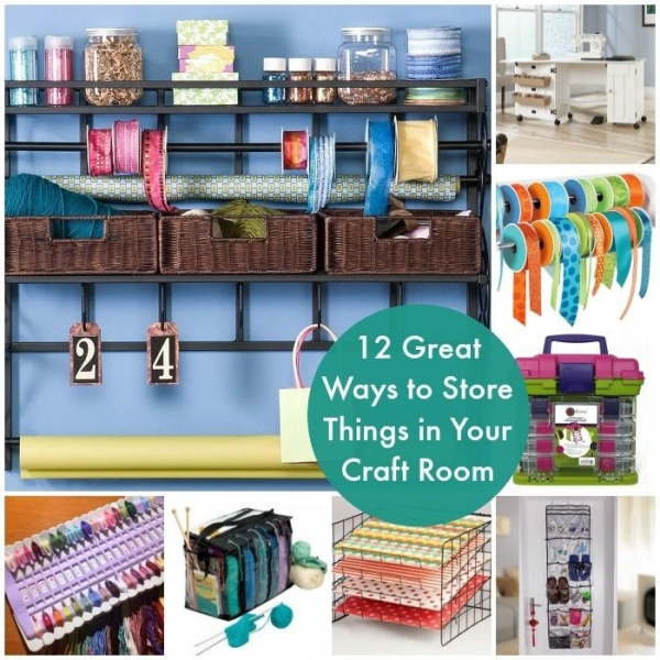 Craft room storage solutions home and garden for Storage solutions for craft rooms