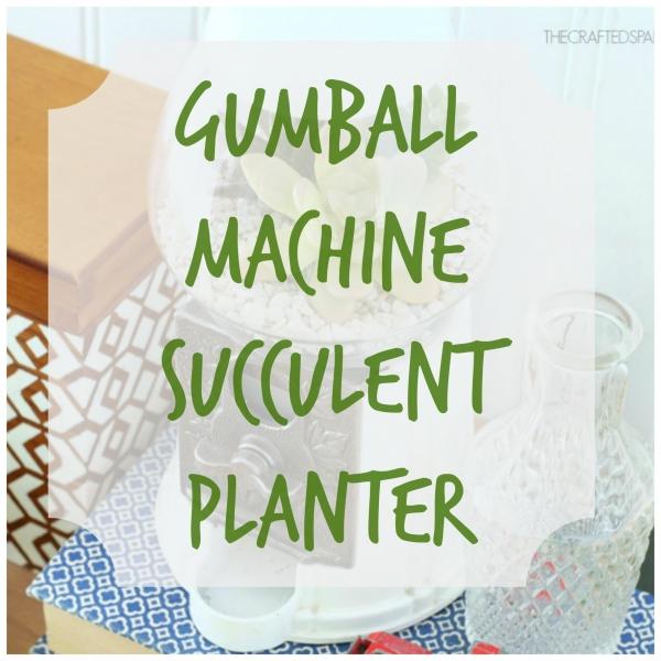 gumball machine planter