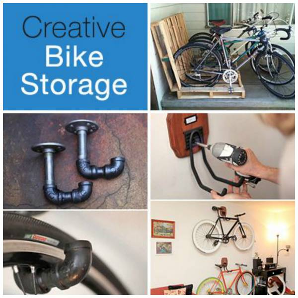 Creative ways to store your bike home and garden for Creative bike storage