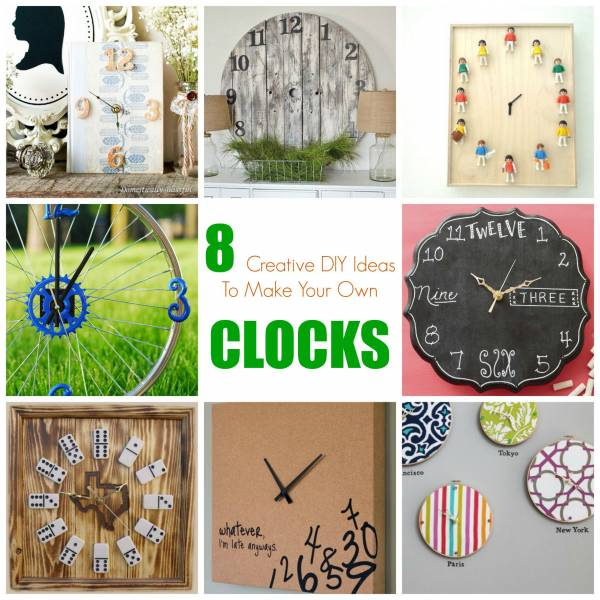 8 Creative Diy Ideas To Make Your Own Decorative Clocks Home And