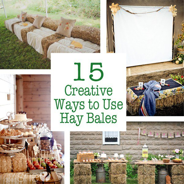 15 Outdoor Wedding Ideas That Are Totally Genius: Creative Ways You Can Use A Hay Bale