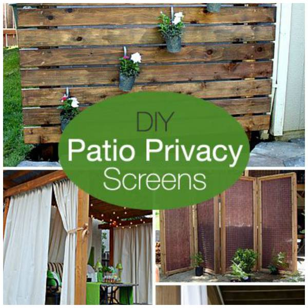 Make your own privacy screens for your patio home and garden for Creating privacy on patio