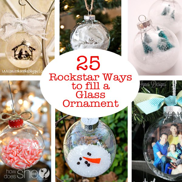 What ways have you used a glass ornament to make your own ...